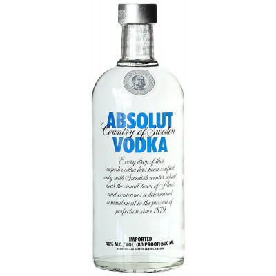 Absolut Vodka 40% 0,5L